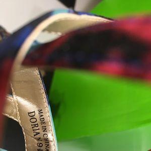 Audrey Brooke Satin floral heels